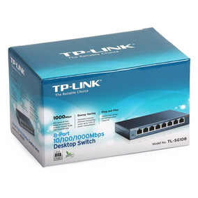 Switch 8 Portas Gigabit Tp-link Tl-sg108 Com Qos 10/100/1000