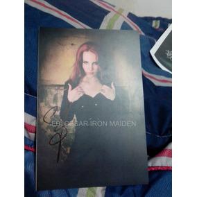 Foto Autografiada Por Simone Simons Epica Autógrafo Sep/14