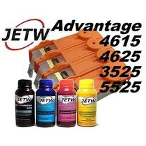 Cartucho Recarregável Hp Advantage 5525 4615 Chip Full Tinta