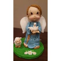 Adorno Para Torta, Angelito , Porcelana Fria