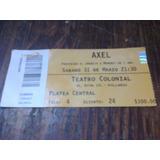 Entrada Axel 2012 - Teatro Colonial