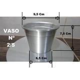 Cachepot Vasos Nº2/5 Altura 7,5cm Caixa 40 Unidades Alumínio