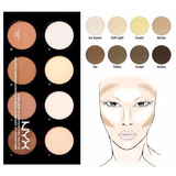 Paleta Corrector Maquillaje Nyx Highlight & Contour Pro
