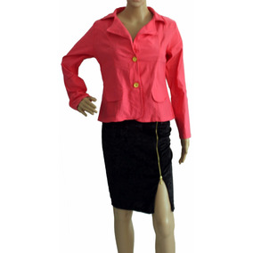 Blazer Feminino Acinturado Terninho Colorido Blusa Casaco
