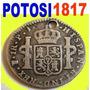 Potosi 1817 Plata Colonial 1 Real +raro