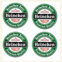 Heineken Cerveja 4 Descanso Copos Emborrachados Frete Grátis