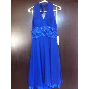 Vestido De Fiesta Azul (nuevo)