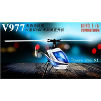 Hélicoptero Wltoys V977 6-canais Radio 2.4g Brushless Rc Rtf