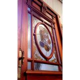 Puerta Antigua Vitraux Cedro Atelier Carpinteria