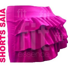 Shorts Saia Com Babado Academia Ginástica Fitness Extreme