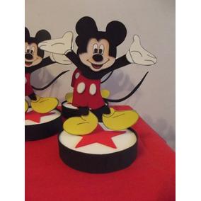 Centros De Mesa Mickey En Goma Eva.x 5u.