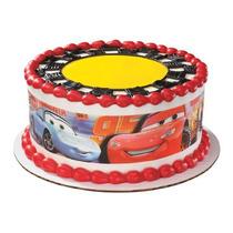 Cars Matte Fiesta Infantil Decoracion Pastel Pastelito Oblea