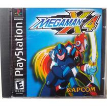 Megaman X4 Ps1 Psone Box+encarte Foto+midia Prensada Pacth