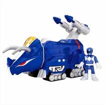 Imaginext - Power Rangers Ranger Azul E Zord Triceratops