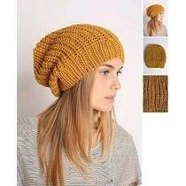 Gorro Largo Tejido Slouchy Beanie Crochet Moda Slouch