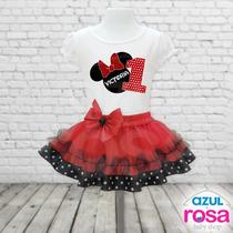 Falda Tutu Y Blusa Personalizada Minnie Frozen Peppa