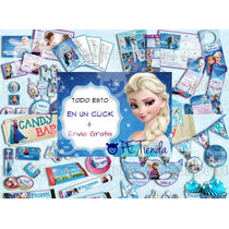Kit Imprimible Fiesta Frozen Invitacion Candy Bar Juegos