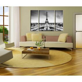 Bastidores Torre Eiffel Triptico En Lienzo 120x80