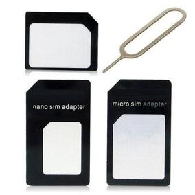 Micro Sim Adaptador 3x1 Card Nano Chip Mini Barato Iphone