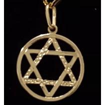 Folheado Ouro Pingente Estrela De David 1,6cm