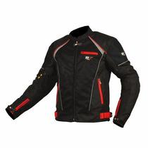 Chamarra Para Motociclista R7 Racing Roja R7-302 Textil