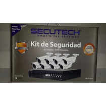 Kit De Seguridad Secutech 8 Camaras Dvr 8 Canales Disco 1tb