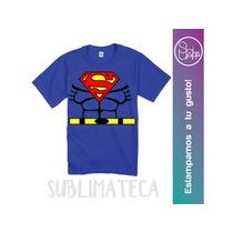 Franelas Super Héroes Hasta Talla 8 Ovejita