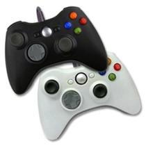 Control Usb Alambrico Para Xbox 360 Y Pc En Negro Y Blanco