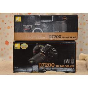 Nikon D7200 Full Hd 24 Mpx + Lente Nikon 18-140 Vr Nueva