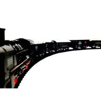 Tren Eléctrico 4 Vagones Rail King Oferta Pilas Gratis