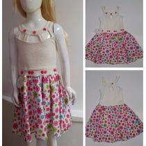 Vestido Niña Manga Sisa Falda En Tela Estampada Flores