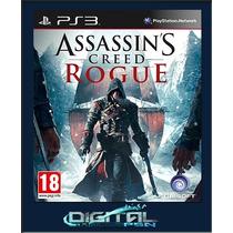 Assassins Creed Rogue Ps3 Dubl Pt Br Digital Envio Imediato
