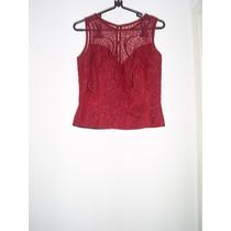 Vestido Conjunto Festa Longo Vermelho Renda Bordado 40 42