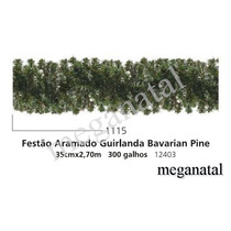 Festão Aramado Verde - Medida De 20cm X 2,70m