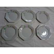 Conjunto Pratos Sobremesa 6 Peças Encanto Porcelana Schmidt