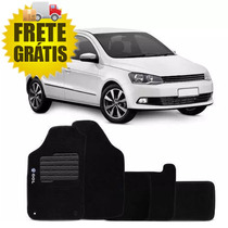 Tapete Automotivo Gol G5/g6 2009 A 2016 Preto Bordado