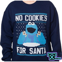 Sudadera Comoda Ugly Sweter Come Galletas Cookies Santa