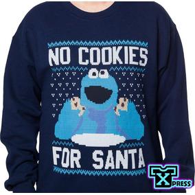 Sudadera Comoda Ugly Sweter Come Galletas Cookies Santa