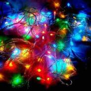 Pisca Pisca Natal 100 Led 8 Funções 9m Colorido Fio Transpar