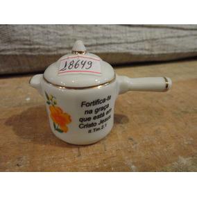 #18649 - Bibelot Panela Pressão Porcelana Branca, Salmos!!!