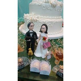 Topo De Bolo De Casamento De Biscuit