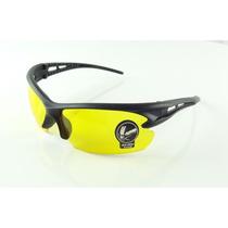 Oculos Esporte Preto Lentes Visão Noturna Sem Grau - A742