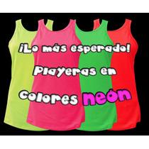 Playeras Color Neón Fosforescente Tipo Tank Top