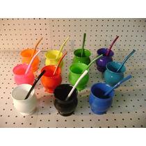 20 Mates Plásticos Térmicos, Con Bombilla Metálica Color