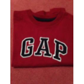 Remera Gap Logo Manga Larga