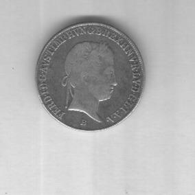 Moeda Hungria 20 Krajczar 1842-b Prata