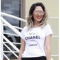 Tshirt Baby Look Feminina Tipo Chanel Moda Blog Fashion