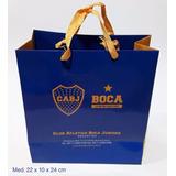 50 Bolsas Boca Oficial Chica De Cartulina Boutique 20x10x24