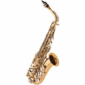 Saxofone Alto Eagle Sa500 Ln Com Case - Laqueado Niquelado