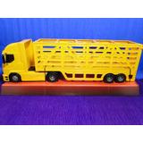 Caminhão Carga Viva Bau Amarelo Comp=60cm